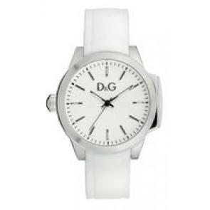 Pulseira de relógio Dolce & Gabbana DW0746 Borracha Branco 18mm