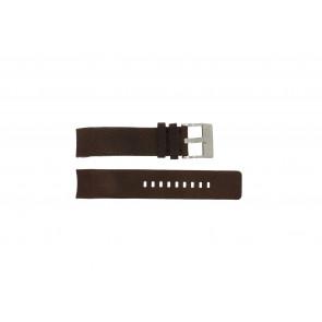 Diesel pulseira de relogio DZ4038 / DZ4041 Couro Marrom 22mm