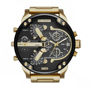 Pulseira de relógio Diesel DZ7333 Aço Banhado a ouro 28mm
