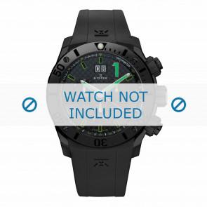 Pulseira de relógio Edox 10020-37N-NV Silicone Preto 22mm