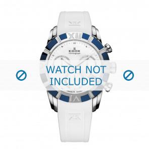 Edox pulseira de relogio 10405-357B-NAIN Silicone Branco 18mm