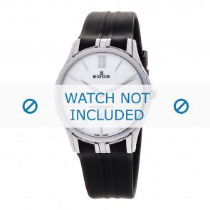 Edox pulseira de relogio 27033-3-BIN Silicone Preto