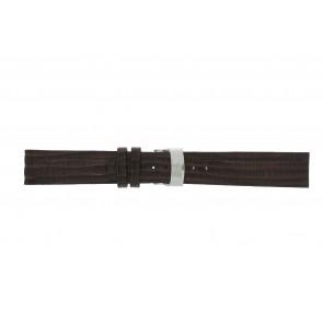 Elysee pulseira de relogio Ely.02 Couro Castanho escuro 20mm + costura marrom