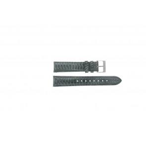 Esprit pulseira de relogio ES103062 / 819660 Couro Cinza 18mm + costura cinza