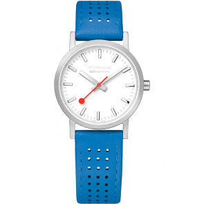 Pulseira de relógio Mondaine A658.30323.16SBD / FE3116.40Q.2 Couro Azul 16mm