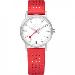 Pulseira de relógio Mondaine A658.30323.16SBD / FE3116.30Q.2 Couro Vermelho 16mm