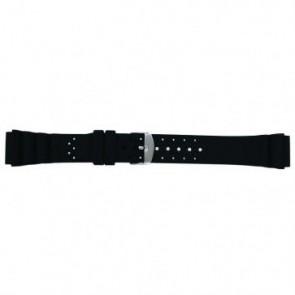 Pulseira de relógio Universal SL100 Silicone Preto 20mm