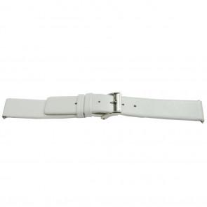 pulseira de couro genuíno branco 16mm EX-E510