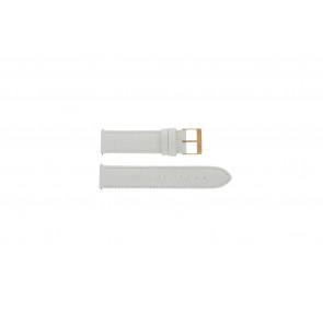 Pulseira de relógio Guess W17516L1 Couro Branco 20mm