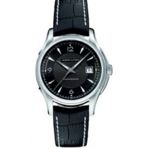 Pulseira de relógio Hamilton H001.32.515.535.01 / H600325101 Couro Preto 20mm