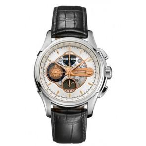 Pulseira de relógio Hamilton H32696751 Couro Preto 22mm