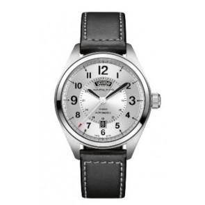 4b64f0f043e Pulseira de relógio Hamilton H001.70.505.753.01 Couro Preto 20mm