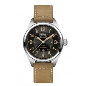 Pulseira de relógio Hamilton H001.70.505.833.01 Couro Bege 20mm