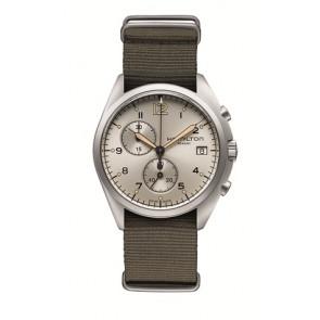 Pulseira de relógio Hamilton H76552955 Textil Taupe 22mm