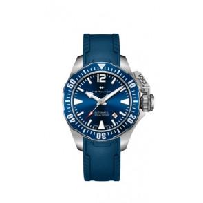 Pulseira de relógio Hamilton H77705345 Borracha Azul 20mm