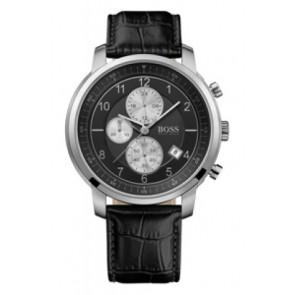 Pulseira de relógio Hugo Boss HB-137-1-14-2352 Couro Preto 22mm