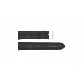 Pulseira de relógio Universal 305L.01.12 XL Couro Preto 12mm