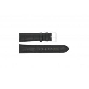 Pulseira de relogio 305.01.16 XL Couro Preto 16mm + costura preto