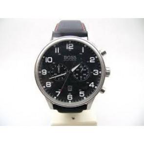 Pulseira de relógio Hugo Boss HB.199.114.2570 Couro/Plástico Preto 22mm