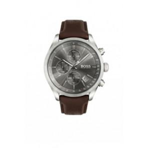 Pulseira de relógio Hugo Boss HB-297-1-14-2956 / HB659302764 Couro Castanho escuro 22mm