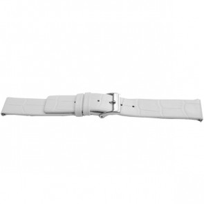 Pulseira de relógio Universal F520 Couro Branco 18mm