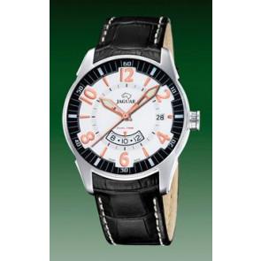 Pulseira de relógio Jaguar J628/2 Couro croco Preto