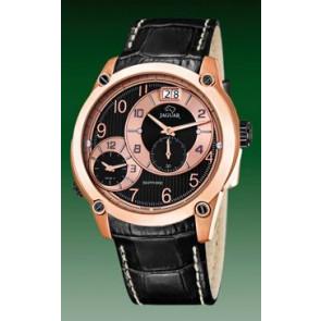 Pulseira de relógio Jaguar J631/3 / J635/1 Couro Preto 24mm