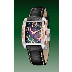 Pulseira de relógio Jaguar J648-4 Couro Preto