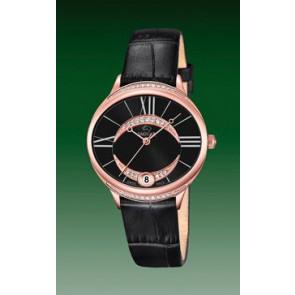 Pulseira de relógio Jaguar J804-3 Couro Preto