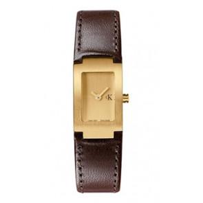 Pulseira de relógio Calvin Klein K600026550 / K0411209 Couro Marrom