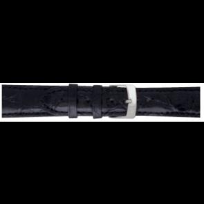 Morellato pulseira de relogio Amadeus XL G.Croc Gl K0518052019CR22 / PMK019AMADEU22 Pele de crocodilo Preto 22mm + costura padrão