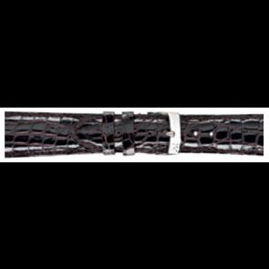 Morellato pulseira de relogio Amadeus XL G.Croc Gl K0518052032CR22 / PMK032AMADEU22 Pele de crocodilo Castanho escuro 22mm + costura padrão