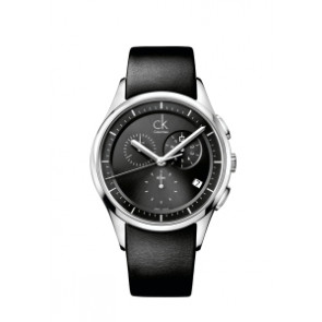 d3237e7ec4e Pulseira de relógio Calvin Klein K2A27161   K600000065 Couro Preto 20mm