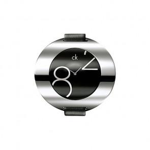Pulseira de relógio Calvin Klein K600035806 / K3723702 Couro Preto 16mm
