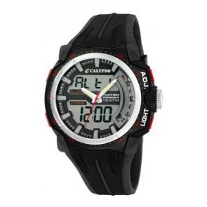 Pulseira de relógio Calypso K5539-1 Borracha Preto