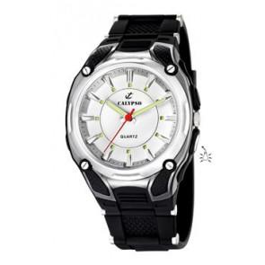 Pulseira de relógio Calypso K5560-1 Borracha Preto