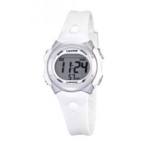 Pulseira de relógio Calypso K5609-1 Borracha Branco