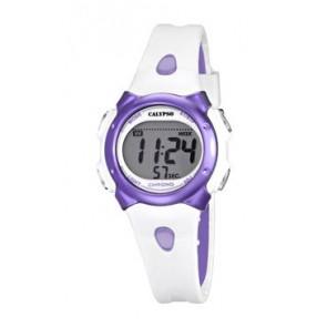 Pulseira de relógio Calypso K5609-2 Borracha Branco