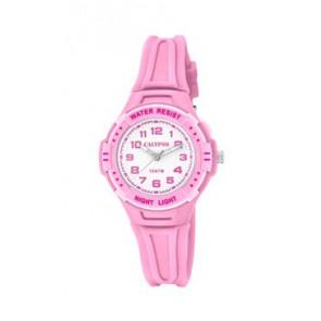 Pulseira de relógio Calypso K6070-1 Borracha Rosa