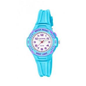 Pulseira de relógio Calypso K6070-2 Borracha Azul claro