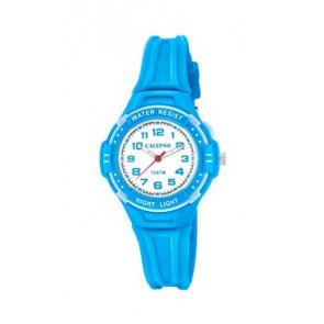 Pulseira de relógio Calypso K6070-3 Borracha Azul