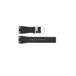 Pulseira de relógio K7547100 / K600060218 Couro/Plástico Preto 25mm