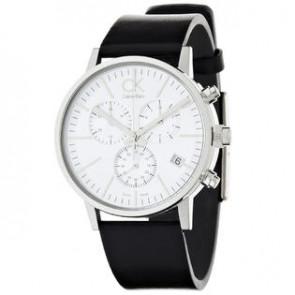 57eb78ff891 Pulseira de relógio Calvin Klein K7627120   K7627107   K600061350 Couro  Preto 22mm