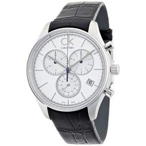 7a47816bf3f Pulseira de relógio Calvin Klein K9814220   K690000006 Couro Preto 20mm