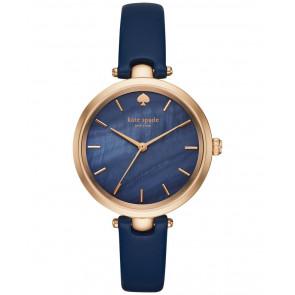 Pulseira de relógio Kate Spade New York KSW1157 Couro Azul 6mm