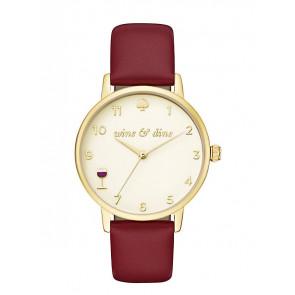 Kate Spade New York pulseira de relogio KSW1188 / METRO Couro Vermelho