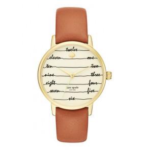 Pulseira de relógio Kate Spade New York KSW1237 Couro Marrom 16mm