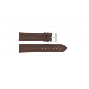 Pulseira de relogio 305.02.14 XL  Couro Marrom 14mm + costura marrom