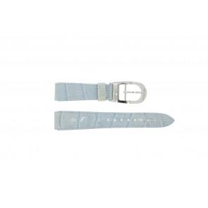 Pulseira de relógio WoW LEDER-BLAUW-18 Couro Azul 18mm
