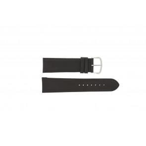 Pulseira de relógio WoW E.5316 Couro Castanho escuro 22mm